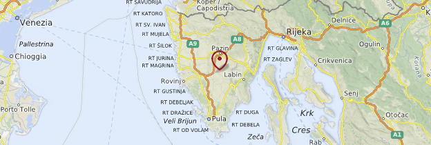 Carte Istrie - Croatie