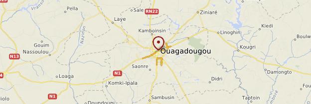 Carte Ouagadougou - Burkina Faso