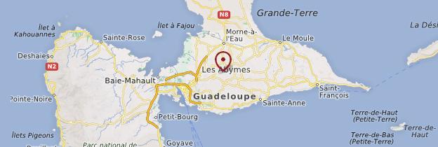 Carte Grande-Terre - Guadeloupe
