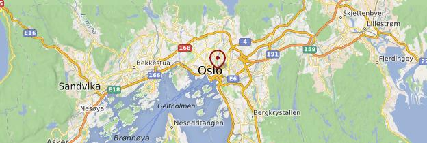 Carte Oslo et la côte sud - Norvège