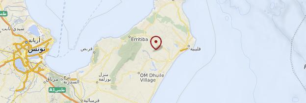 Carte Cap Bon - Tunisie