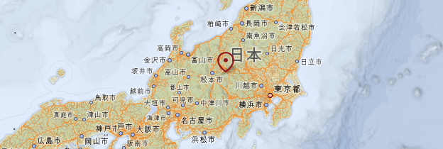 Carte Honshû - Japon
