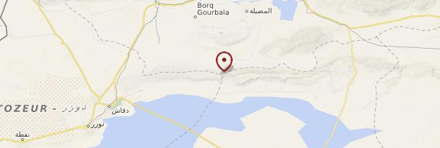 Carte Région de Tozeur, Gafsa et Kebili - Tunisie
