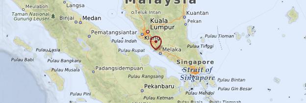 Carte Côte de la mer d'Andaman - Malaisie