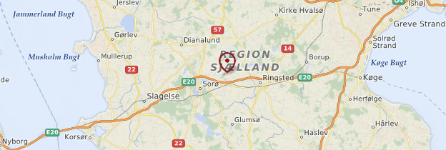Carte Seeland - Danemark