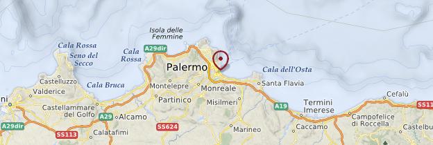 Carte Palerme et ses environs - Sicile