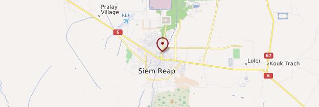 Carte Siem Reap - Cambodge