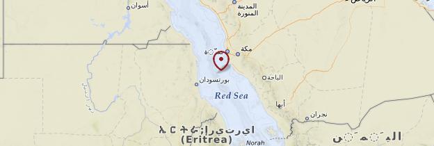 Carte Mer Rouge - Égypte