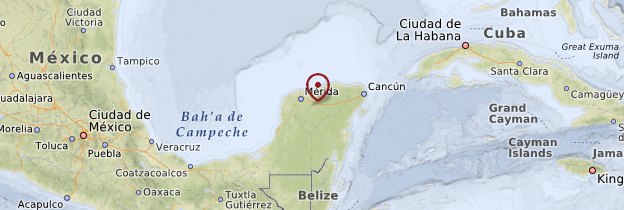 Carte Yucatán - Mexique