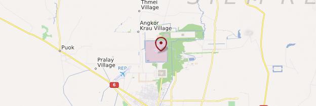 Carte Site d'Angkor - Cambodge