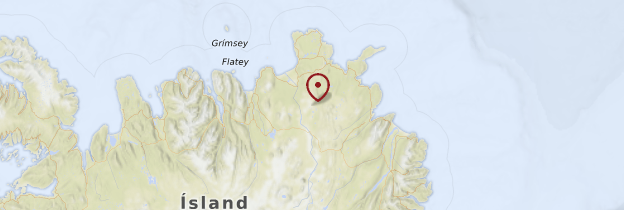 Carte Jökulsargljufur et le Nord - Islande