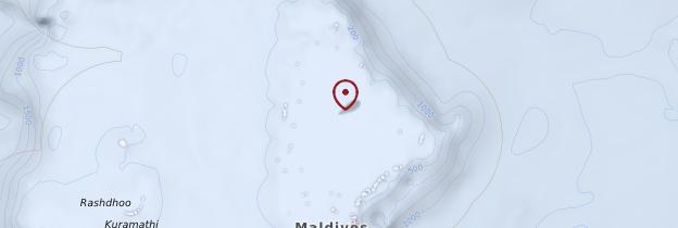 Carte Atoll de Malé Nord - Maldives