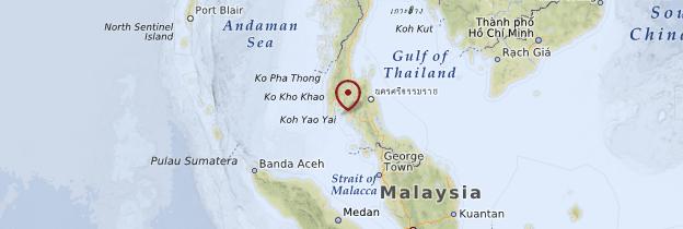 Carte Sud et îles de la Mer d'Andaman - Thaïlande