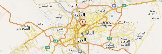 Carte Le Caire et ses environs - Égypte
