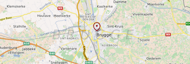 Carte Flandre Occidentale - Belgique