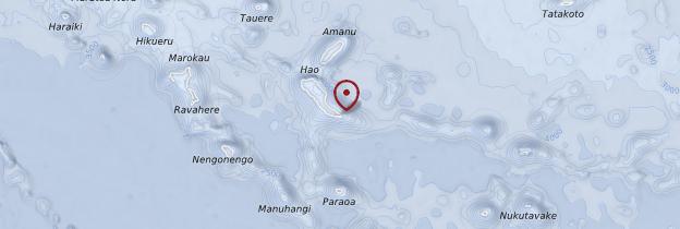 Carte Archipel des Tuamotu - Polynésie française