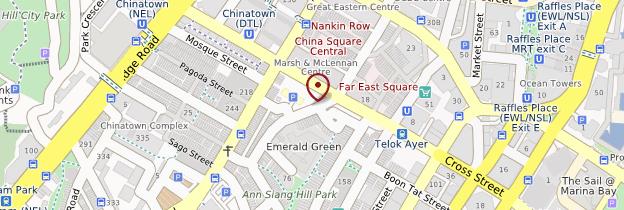 Carte Chinatown - Singapour