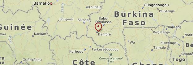 Carte Sud-Ouest - Burkina Faso