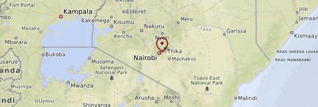 Carte Nairobi et le centre - Kenya