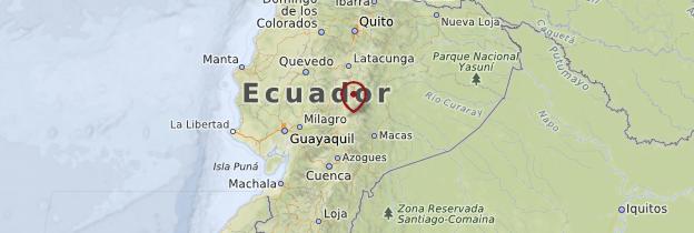 Carte Cordillère des Andes - Équateur