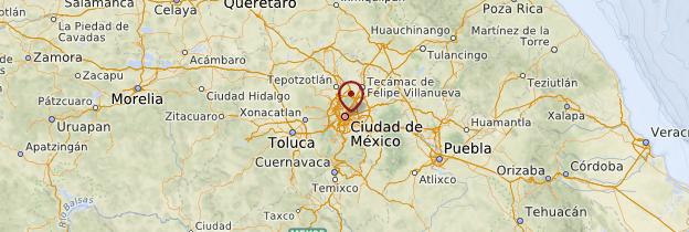 Carte Mexico et environs - Mexique