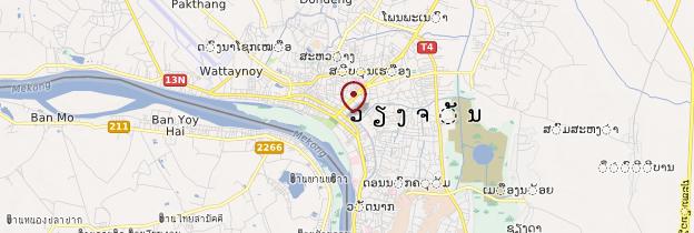 Carte Vientiane - Laos