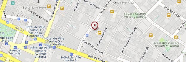 Carte 4ème arrondissement - Paris