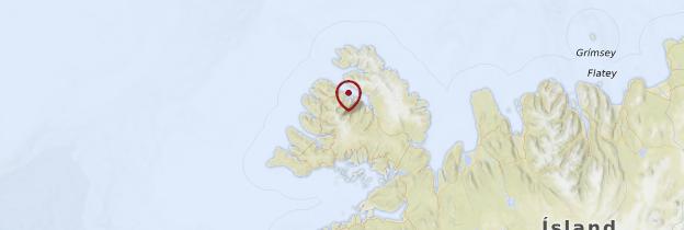 Carte Fjords du Nord-Ouest - Islande