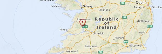 Carte Comté de Clare - Irlande