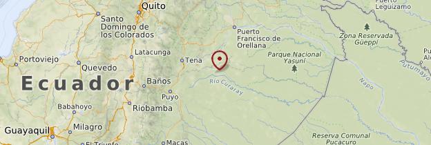 Carte Amazonie (Oriente) - Équateur