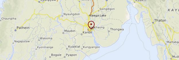 Carte Yangon et ses environs - Birmanie