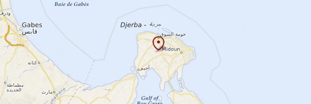 Carte Djerba (Jerba) - Tunisie