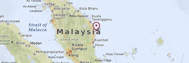 Carte Côte de la mer de Chine - Malaisie