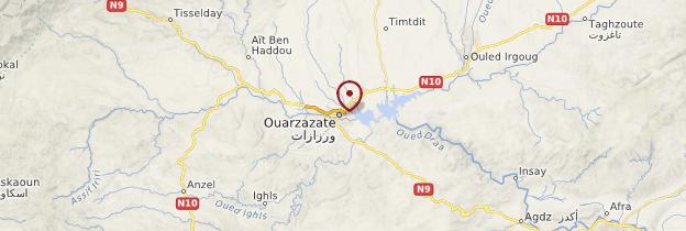 Carte Ouarzazate et les oasis du sud - Maroc