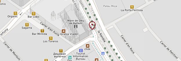 Carte La Rambla - Barcelone