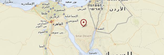 Carte Sinaï - Égypte