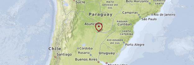 Carte Misiones et Corrientes - Argentine