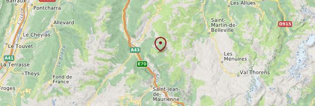 Carte Savoie - Alpes