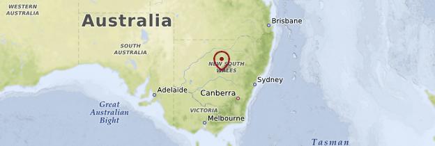 Carte New South Wales (Nouvelle-Galles du Sud) - Australie