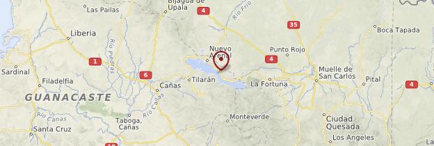 Carte L'Arenal et le nord-ouest - Costa Rica