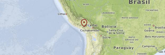 Carte Arequipa et sa région - Pérou