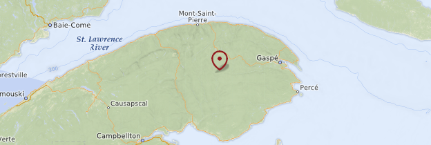 Carte Gaspésie - Québec