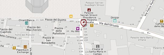 Carte Centre historique - Florence