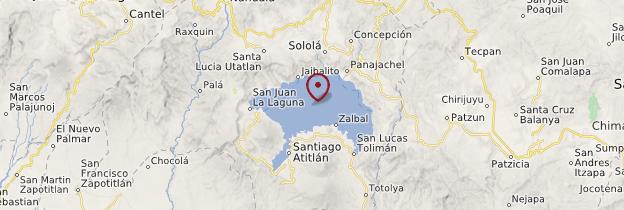 Carte Lac Atitlán et environs - Guatemala