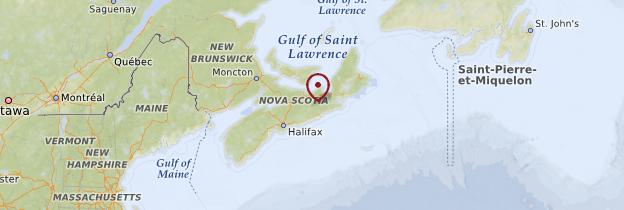 Carte Nouvelle-Écosse - Canada
