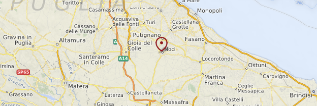 Carte Pouilles - Italie