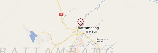 Carte Battambang - Cambodge