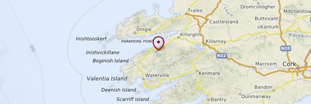 Carte Ring of Kerry - Irlande