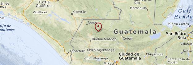 Carte Altiplano - Guatemala