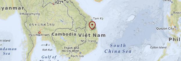 Carte Centre du Vietnam - Vietnam